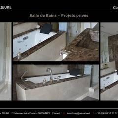 Salles de bains - Bathroom: Salle de bains de style  par Architecture interieure Laure Toury