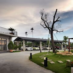 夏沐森山設計整合: asyatik tarz tarz Garaj / Hangar