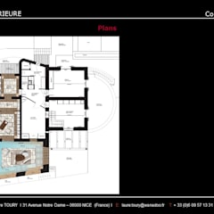 Plans: Villa de style  par Architecture interieure Laure Toury