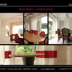 Salle à manger - Dining room: Salle à manger de style  par Architecture interieure Laure Toury