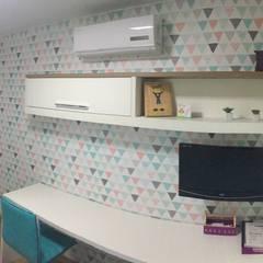 Dormitório de menina: Quartos das meninas  por Luiza Cardoso _ Arquitetura e Urbanismo