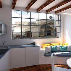 Mini appartamento in stile mediterraneo: Cucina in stile  di IDlab