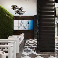 «Golden Gate»: Офисные помещения в . Автор – Wide Design Group, Минимализм