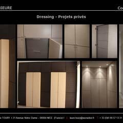 Dressing: Dressing de style de style Moderne par Architecture interieure Laure Toury