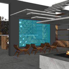 Villa contemporaine: Cave à vin de style  par Architecture interieure Laure Toury