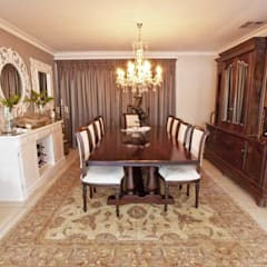 House Watkins :  Dining room by Redesign Interiors