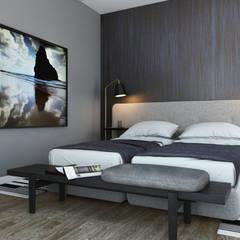 Absolutely Fabulous: Quartos  por DZINE & CO, Arquitectura e Design de Interiores,