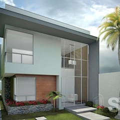 : Casas de estilo  por Soluciones Técnicas y de Arquitectura , Moderno