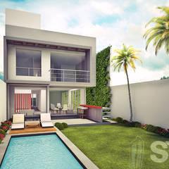 : Jardines de estilo  por Soluciones Técnicas y de Arquitectura , Moderno