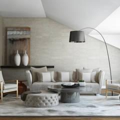 River Side Duplex: Salas de estar  por DZINE & CO, Arquitectura e Design de Interiores