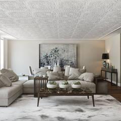 Rua do Alecrim - Lisbon: Salas de estar  por DZINE & CO, Arquitectura e Design de Interiores