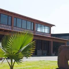 Zona Administrativa y servicios: Estudios y oficinas de estilo rústico por CANO ARQUITECTOS