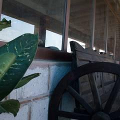 Proyecto de Ecuestre para la practica del Deporte  Equitación : Pasillos y recibidores de estilo  por CANO ARQUITECTOS