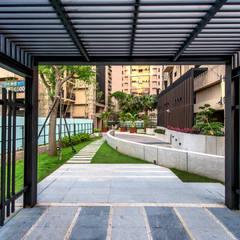 新北-合新大河公園:  庭院遮陽棚 by 研舍設計股份有限公司