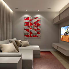 minimalistic Media room by RAFE Arquitetura e Design
