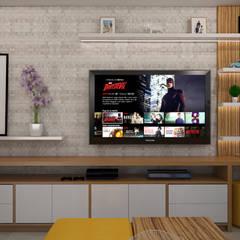 Centro de entretenimiento : Salas de entretenimiento de estilo  por Spacio5