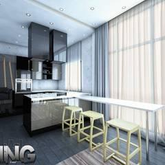 مطبخ تنفيذ Zoning Architects, حداثي