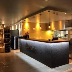 Restaurante Mercado Salas de jantar industriais por a+arquitectura Industrial
