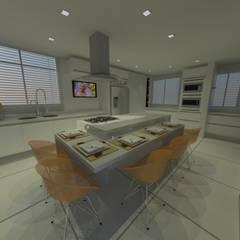 Kitchen units by Studio Bossa Decoração de Interiores,
