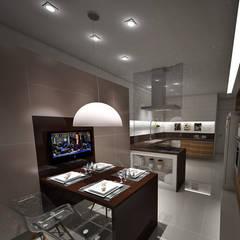 Cozinha: Armários de cozinha  por Studio Bossa Decoração de Interiores