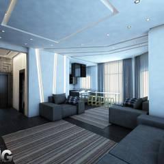 :  غرفة المعيشة تنفيذ Zoning Architects