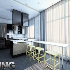 :  مطبخ ذو قطع مدمجة تنفيذ Zoning Architects