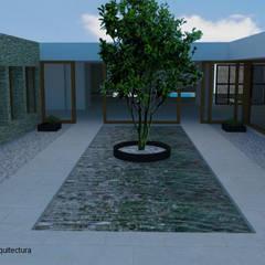 Restaurante agua: Estanques de jardín de estilo  por  Alejandra Romero Arquitectura