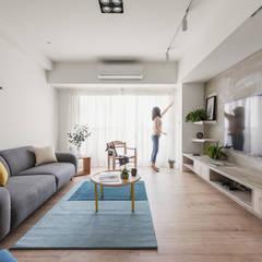 Salas de estilo escandinavo por 寓子設計