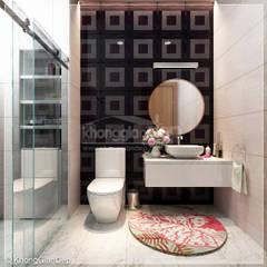 Thiết kế nhà phố Đồng Nai: Gần gũi thiên nhiên với không gian xanh:  Phòng tắm by Công ty cổ phần đầu tư xây dựng Không Gian Đẹp
