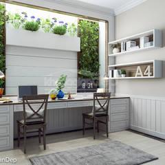 classic Study/office by Công ty cổ phần đầu tư xây dựng Không Gian Đẹp