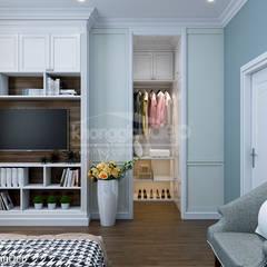 Thiết kế nhà phố Gò Vấp: Phong cách bán cổ điển:  Phòng ngủ by Công ty cổ phần đầu tư xây dựng Không Gian Đẹp