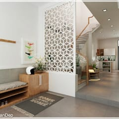 Corridor & hallway by Công ty cổ phần đầu tư xây dựng Không Gian Đẹp