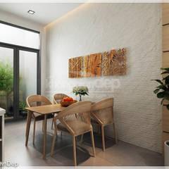 Thiết kế nhà phố Tân Phú: Vẻ đẹp bình dị chan hoà thiên nhiên:  Phòng ăn by Công ty cổ phần đầu tư xây dựng Không Gian Đẹp