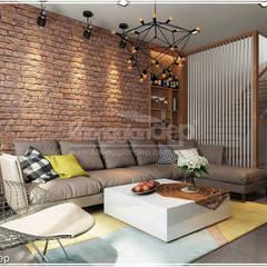 اتاق نشیمن by Công ty cổ phần đầu tư xây dựng Không Gian Đẹp