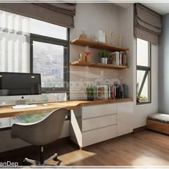 Phòng ngủ:  Phòng học/Văn phòng by Công ty cổ phần đầu tư xây dựng Không Gian Đẹp