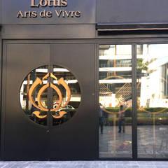 Gran entrada con alto nivel de aislamiento térmico – EAU: Puertas principales de estilo  por AIRCLOS