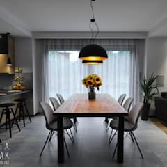 Dining room by MARTA PAWLAK  ARCHITEKTURA  WNĘTRZ