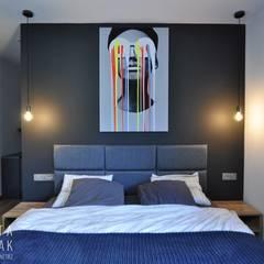 Bedroom by MARTA PAWLAK  ARCHITEKTURA  WNĘTRZ