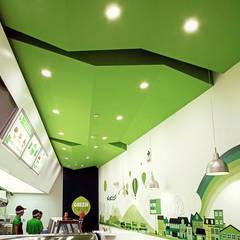 Green Station: Restaurantes de estilo  por SXL ARQUITECTOS,