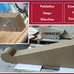 PELDAÑOS de PIEDRA - STONE STEPS - MARCHES en PIERRE: Espacios comerciales de estilo  de ARENISCAS STONE