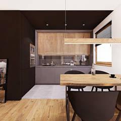 PROJEKT MIESZKANIA 50 m2 / KRAKÓW / GRZEGÓRZECKA: styl , w kategorii Kuchnia zaprojektowany przez MADO DESIGN
