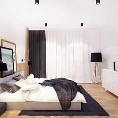 PROJEKT MIESZKANIA 50 m2 / KRAKÓW / GRZEGÓRZECKA: styl , w kategorii Sypialnia zaprojektowany przez MADO DESIGN
