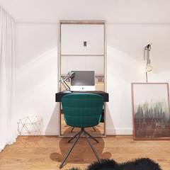 PROJEKT MAŁEGO POKOJU 9m2 / KRAKÓW: styl , w kategorii Domowe biuro i gabinet zaprojektowany przez MADO DESIGN
