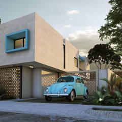 Fachada Principal / Casa Aguerra: Casas unifamiliares de estilo  por AR STUDIO
