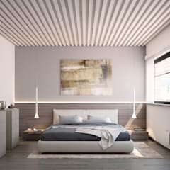 Ville bifamiliari in legno - Bolgare (BG): Camera da letto in stile  di Marlegno