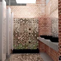 RESTAURANTE - HOTEL ENTREMARES : Baños de estilo  por NIVEL SUPERIOR taller de arquitectura