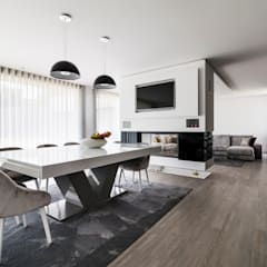 Residência J&M: Salas de jantar  por UNISSIMA Home Couture,Moderno