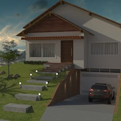 : Casas familiares  por Arquilego - Projetos Online - Arquiteto Virtual