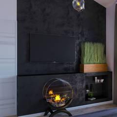 Дизайн-проект для таунхауса в КП Марсель, 120 кв. м.: Спальни в . Автор – Loft&Home