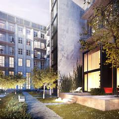 Metropol Park Berlin: Außergewöhnliches Penthouse mit Aufdachterrasse und sensationellem Blick:  Terrasse von JLL Residential Development
